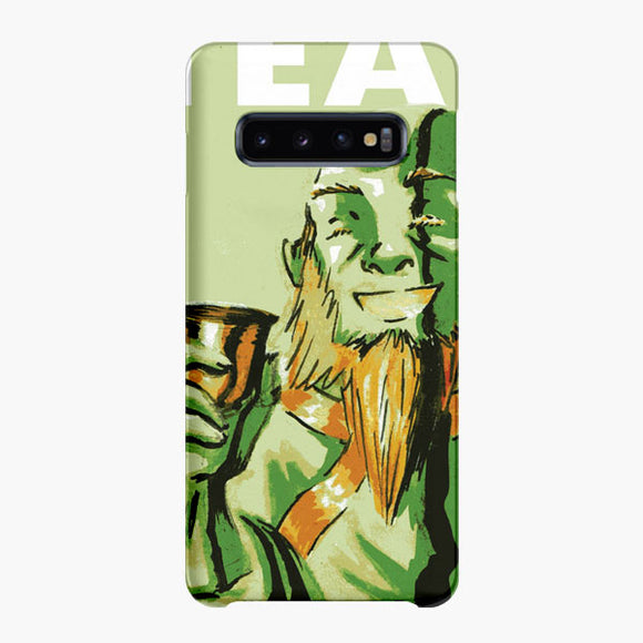 Uncle Iroh Tea Watercolor Green Samsung Galaxy S10 Case, Snap Case 3D Print