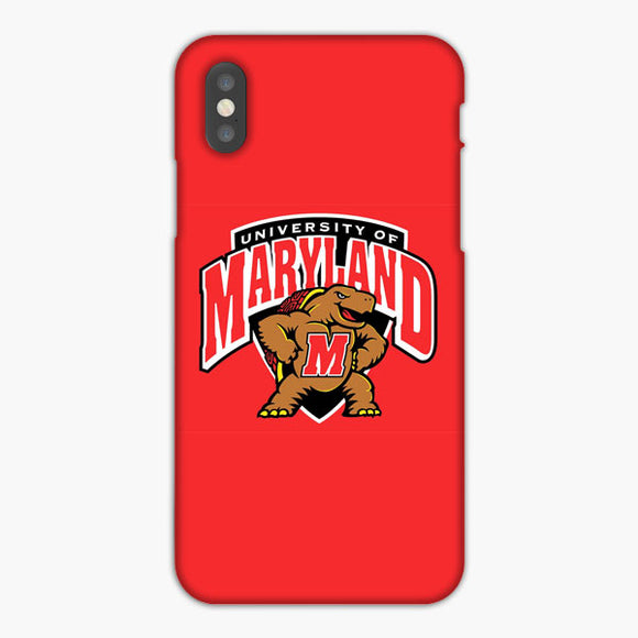 University Of Maryland Basketball iPhone XR Case, Plastic Case, Snap Case & Rubber Case