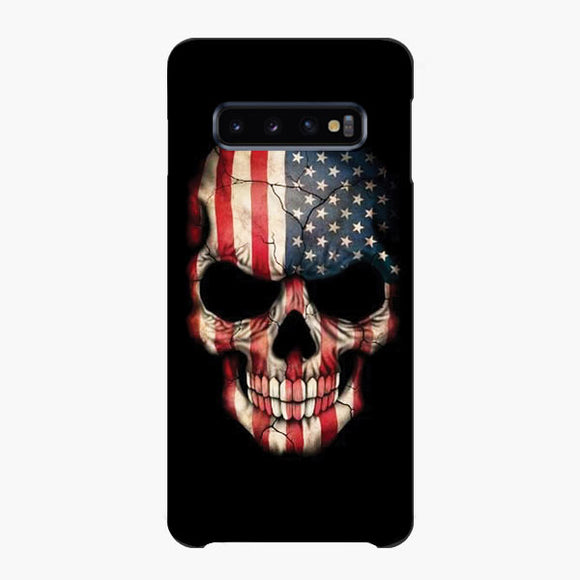 Usa The Skull Samsung Galaxy S10 Case, Snap Case 3D Print