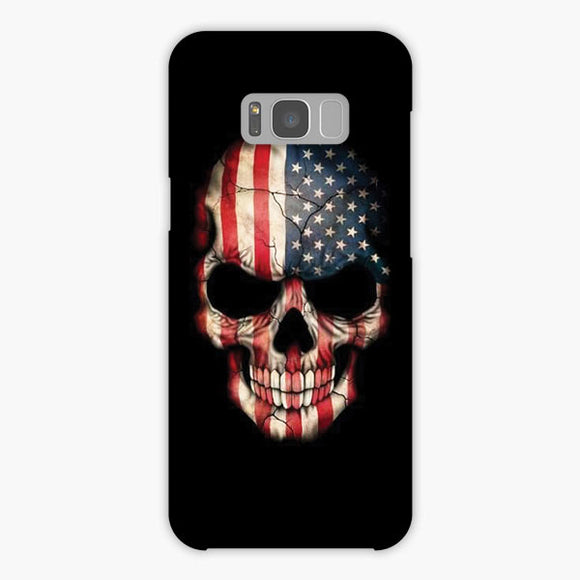 Usa The Skull Samsung Galaxy S8 Case, Snap Case 3D Print