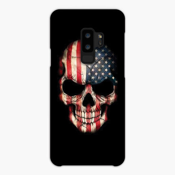 Usa The Skull Samsung Galaxy S9 Case, Snap Case 3D Print