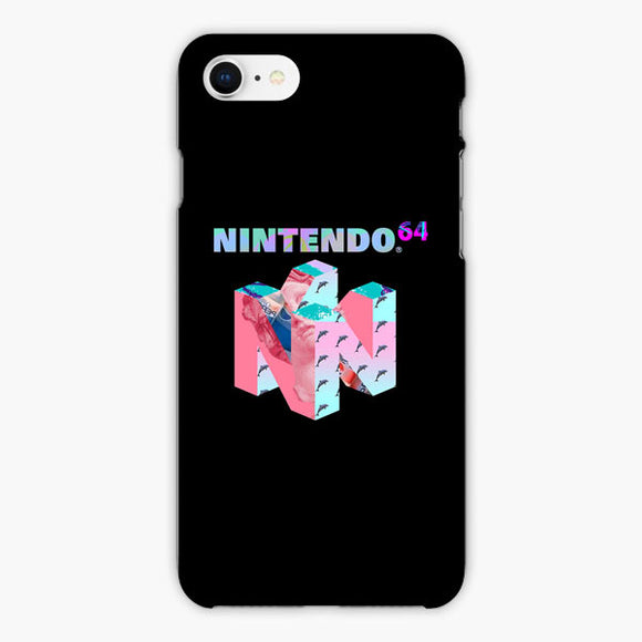 Vaporwave Nintendo 64 Dolphin iPhone 8 Plus Case, Plastic Case, Snap Case & Rubber Case