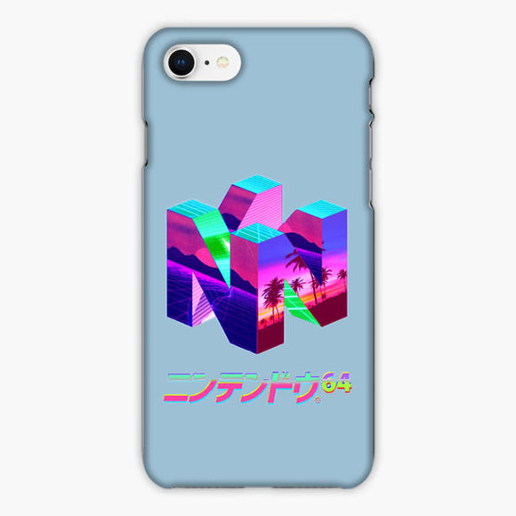 Vaporwave Nintendo 64 Fiber Vintage iPhone 8 Plus Case, Plastic Case, Snap Case & Rubber Case