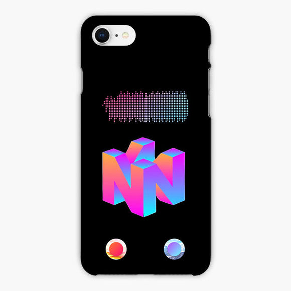 Vaporwave Nintendo 64 Fiber iPhone 8 Plus Case, Plastic Case, Snap Case & Rubber Case