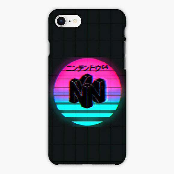 Vaporwave Nintendo 64 Japanese Vintage iPhone 8 Plus Case, Plastic Case, Snap Case & Rubber Case