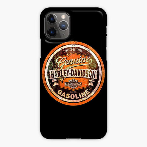 Vintage Harley Davidson Logo Black iPhone 11 Pro Case, Plastic Case, Snap Case & Rubber Case