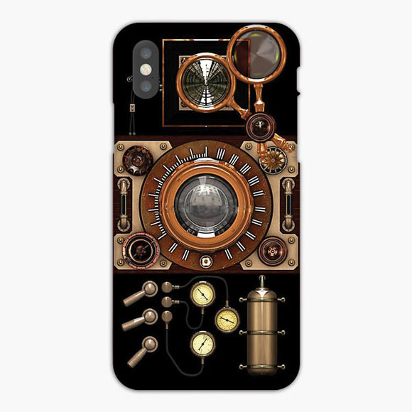 Vintage Steampunk Camera Retro iPhone 8 Plus Case