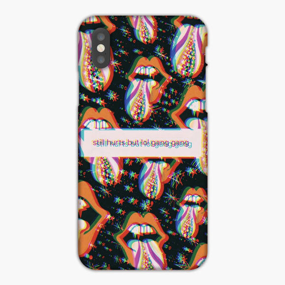 Vsco Still Hurts But Lol Gang Gang iPhone X Case