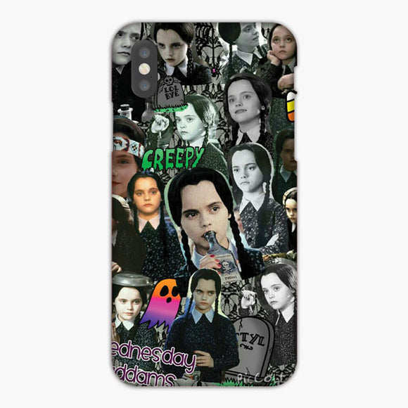 Wednesday Addams Creepy Collage Pic iPhone 7 Plus Case