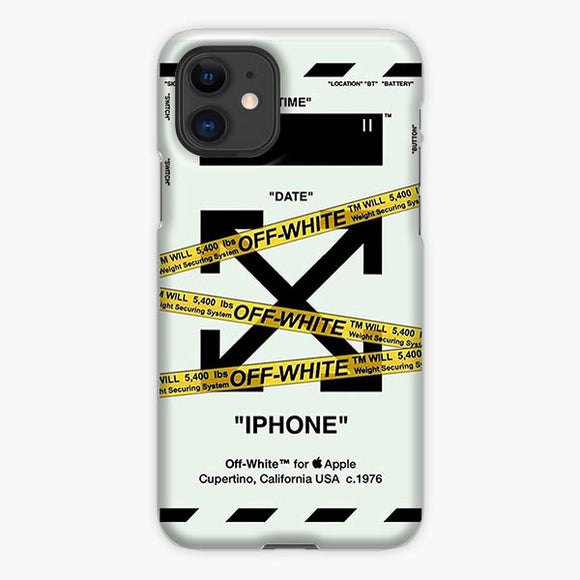 White Off White Arrow iPhone 11 Case, Plastic Case, Snap Case & Rubber Case