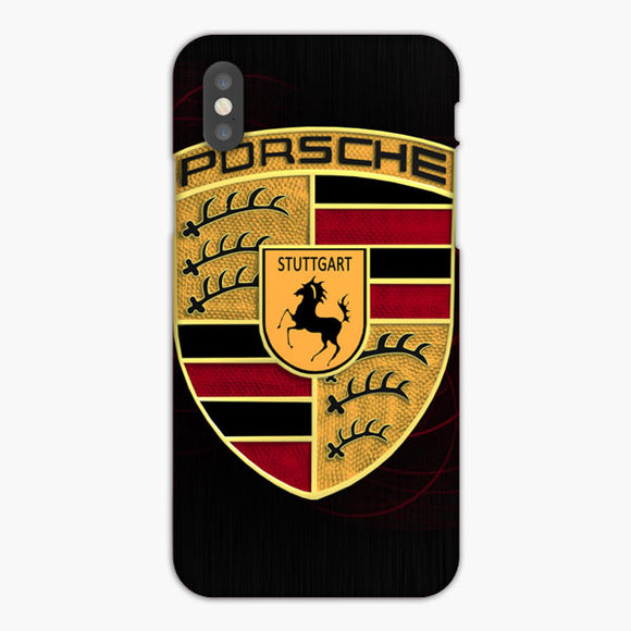 Wooden Porsche Logo Red iPhone XR Case, Plastic Case, Snap Case & Rubber Case