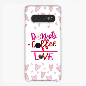 Your Dunkin' Love This Valentine's Day Samsung Galaxy S10 Plus Case, Plastic Case, Snap Case & Rubber Case