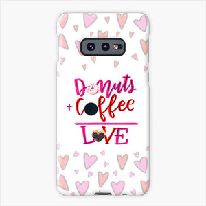 Your Dunkin' Love This Valentine's Day Samsung Galaxy S10e Case, Plastic Case, Snap Case & Rubber Case