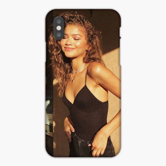 Zendaya Exotic Skin And Beautiful Hair iPhone XS Case, Plastic Case, Snap Case & Rubber Case
