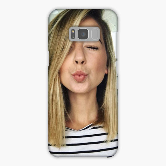 Zoella Wearing Specs Samsung Galaxy S8 Plus Case, Snap Case 3D Print