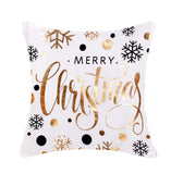 Merry Christmas Pillow-Gold