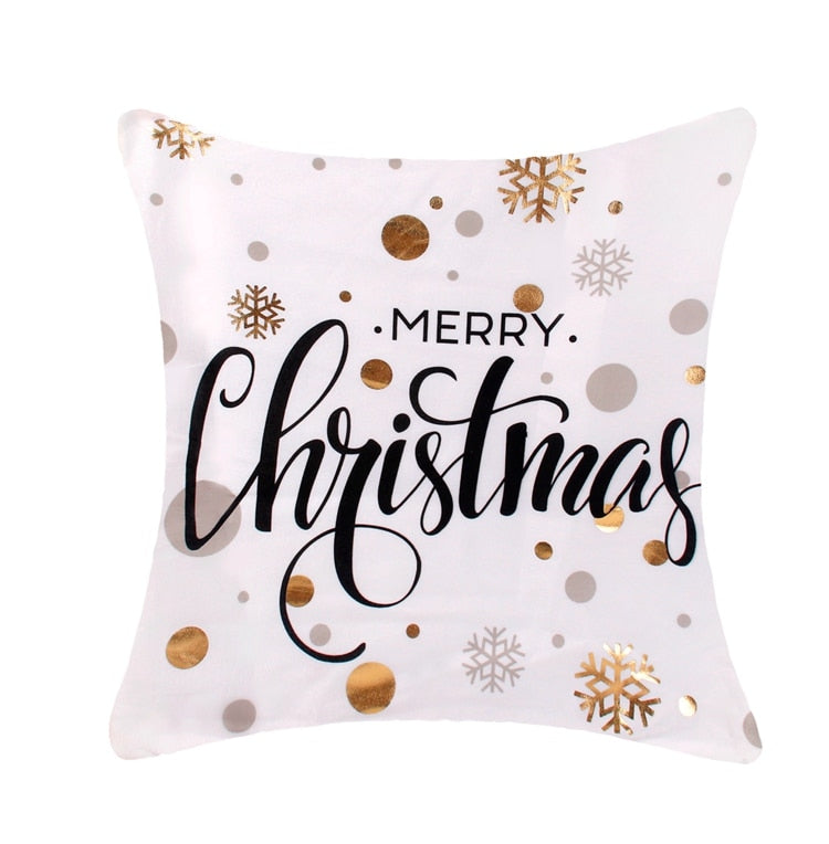 Merry Christmas Pillow-Black