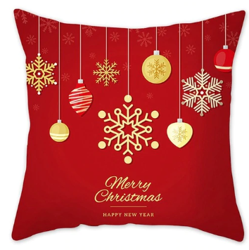 Merry Christmas Ornaments Pillow-Red