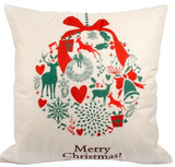 Merry Christmas Ribbon Classical Pillow