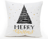 Merry Christmas Tree Holiday Gifts Pillow