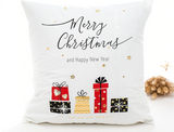 Merry Christmas Happy New Year Pillow