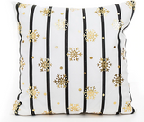 Merry Christmas Snowflake Pillow