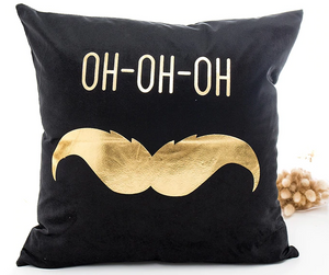 Merry Christmas Santa Claus Mustache Pillow