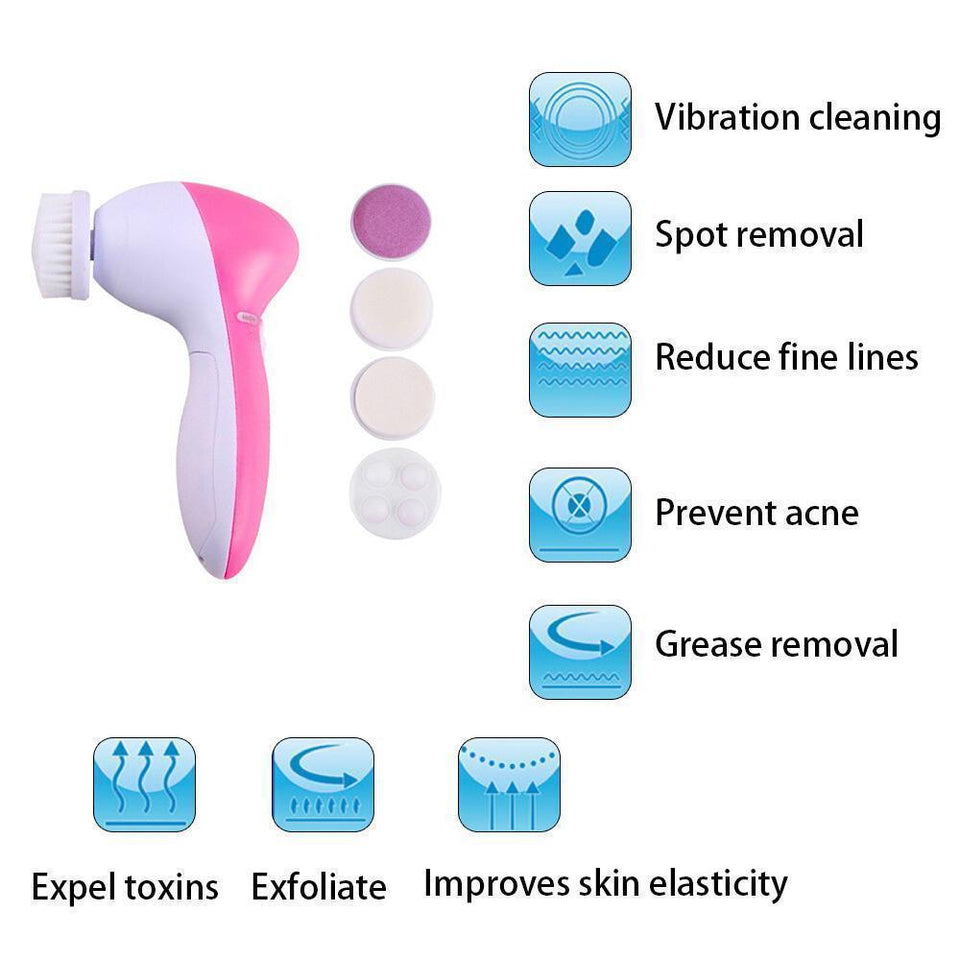 5 in 1 Electric Spin Brush Facial Cleaner