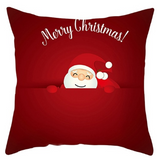 Merry Christmas Sleeping Santa Pillow- Red