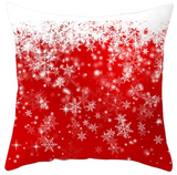 Merry Christmas Snowflake Pillow- Red