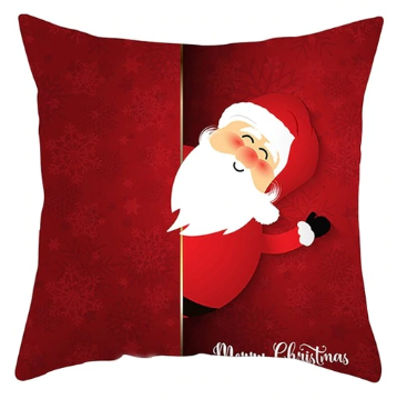 Merry Christmas Waving Santa Claus Pillow