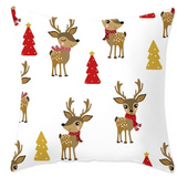 Cute Reindeer & Christmas Tree Pillow