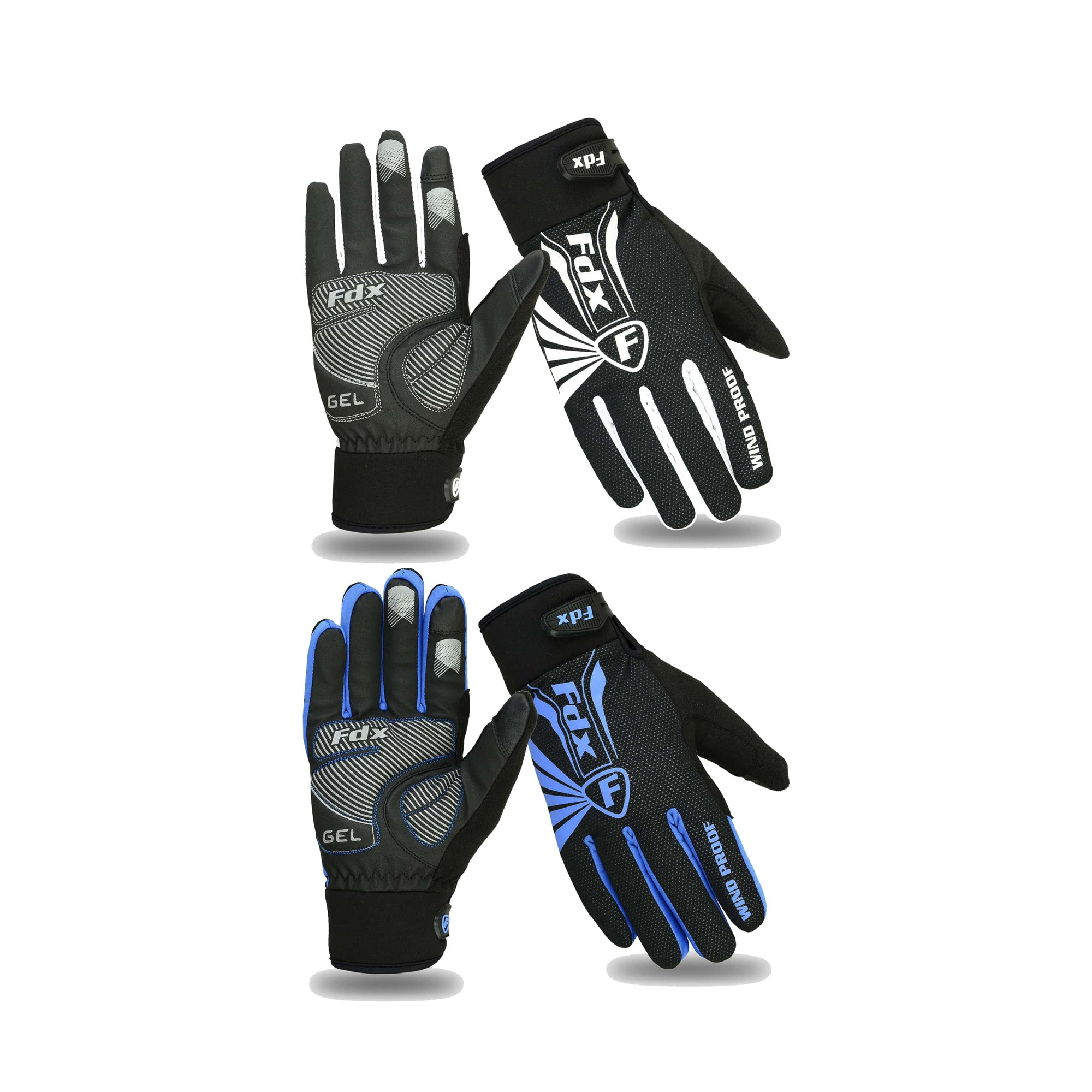 Fdx RD Full Finger Windproof Winter Cycling Gloves