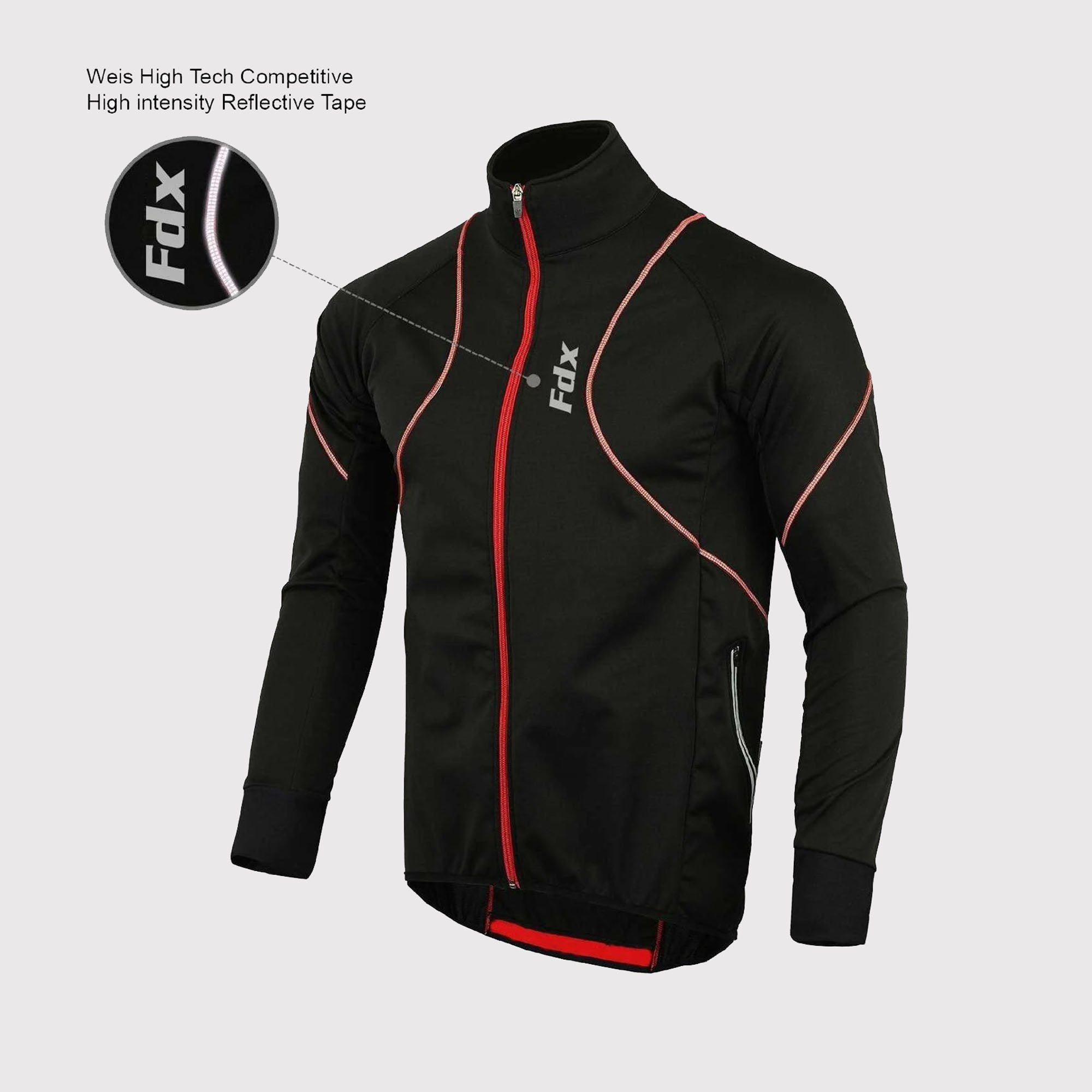 Fdx KL Men's Windproof Cycling Jacket Red