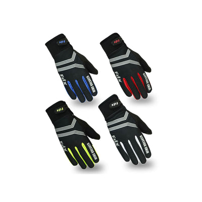 FDX J4 Full Finger Gel Windproof Winter Touch Screen Cycling Gloves