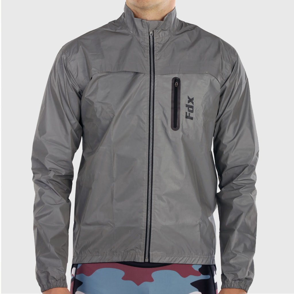 FDX 360° Reflective Silver Cycling Jacket