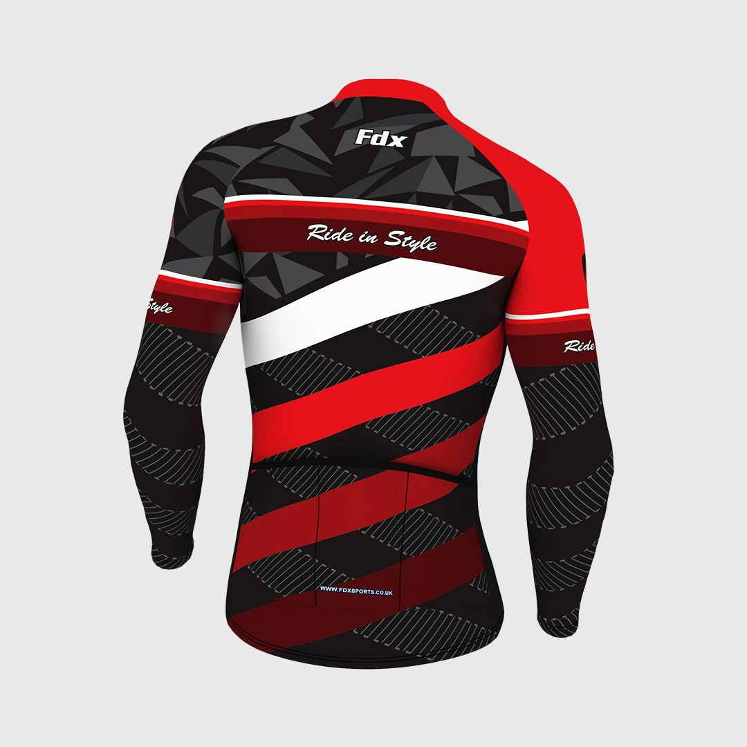 Fdx Equin Men's Red Long Sleeves Cycling Jersey