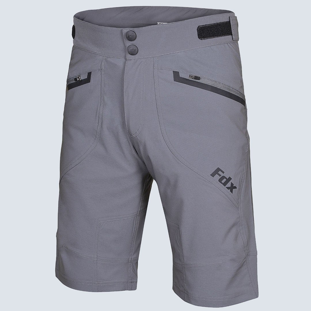 Fdx Grey MTB Cycling Shorts