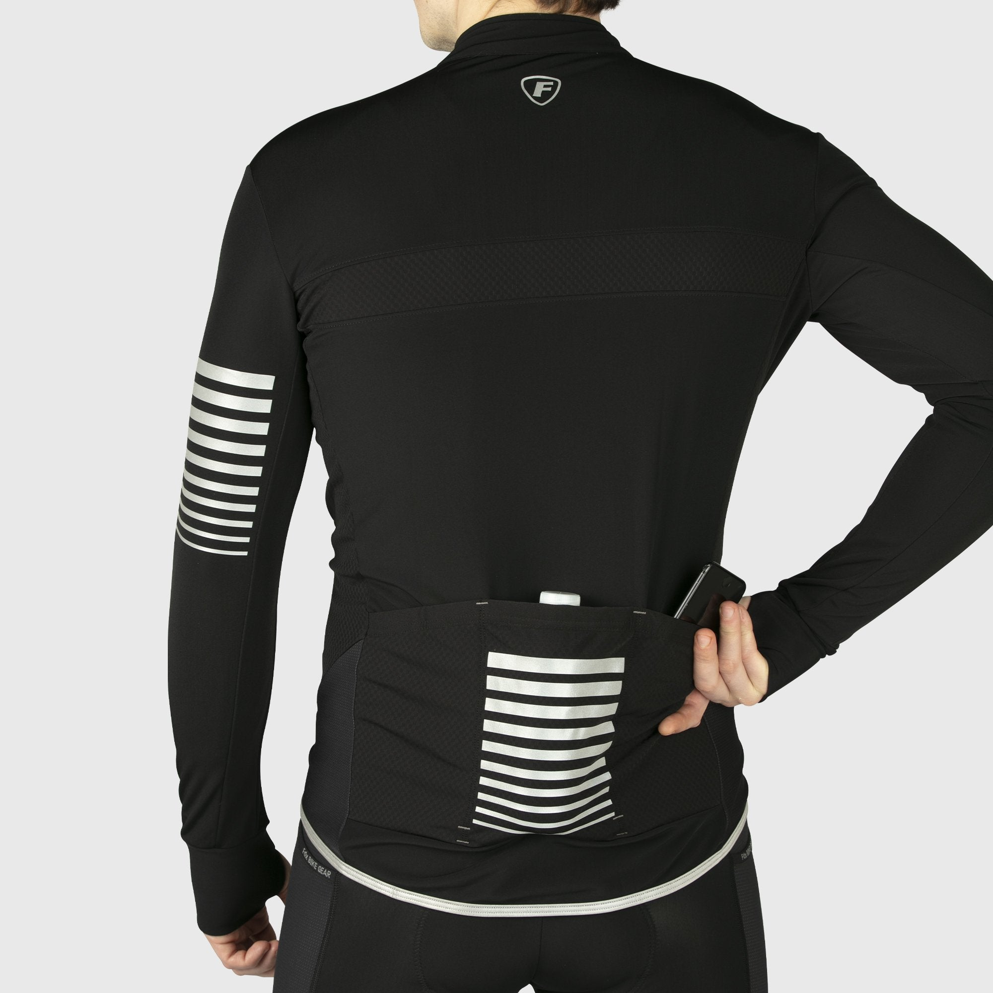 Fdx All Day Men's Long Sleeves Cycling Jersey Black