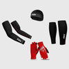 Fdx Arm & Calf Guard, Full Finger Thermal Gloves & Skull Cap Set
