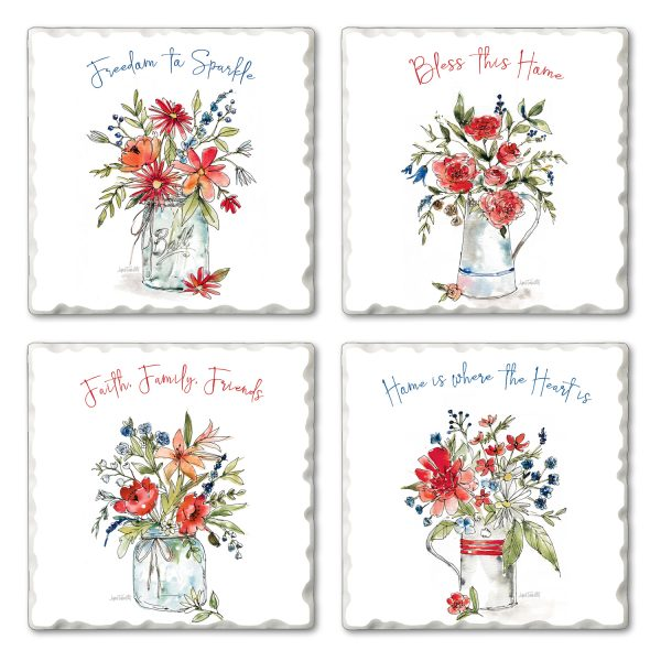 Americana Mood Bouquets Coaster Set