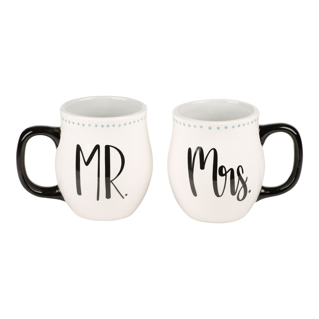 Mr & Mrs The Adventure Begins Mug Set