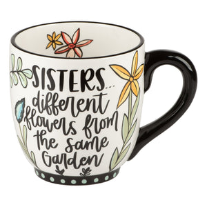 Sisters Different Flowers Mug