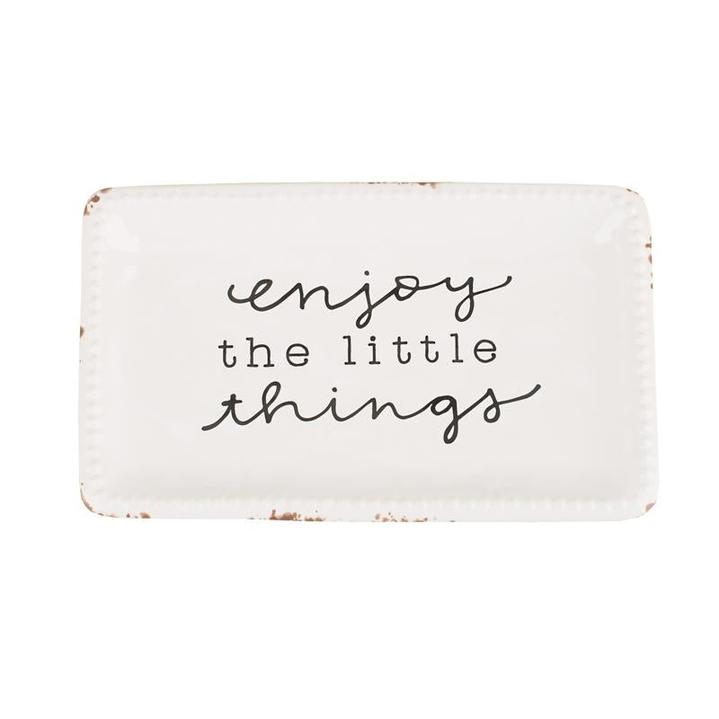 Enjoy The Little Things Trinket Tray