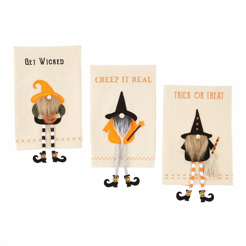 Halloween Dangle Gnome Towel