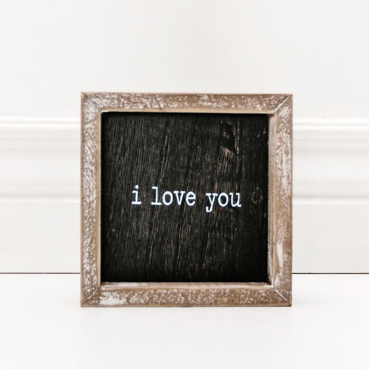 I Love You Small Sign