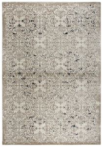 """What in Tarnation"" Cream Distressed Rug"