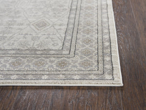"""Throwin a Hissy Fit"" Beige Distressed Rug"