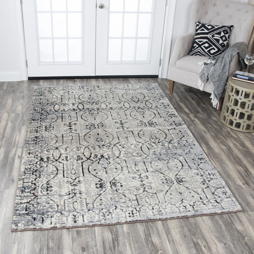 Taupe Distressed Rug