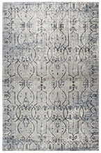 """Caddywampus"" Taupe Distressed Rug"